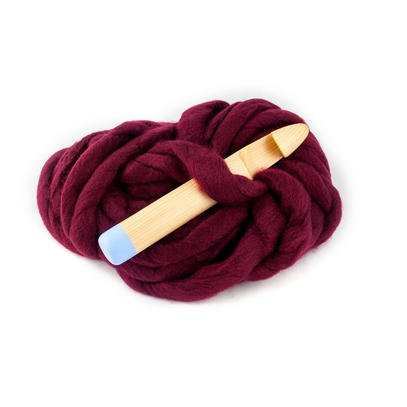 Giant Crochet Hook Kit Burgundy Yarn The Bear Wood